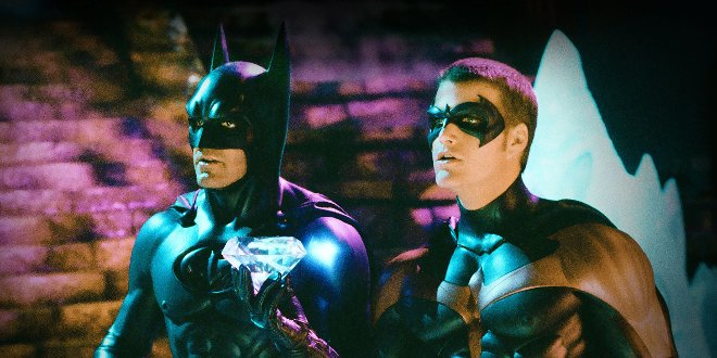 "Batman (George Cllooney) und Robin/Richard ""Dick"" Grayson (Chris O'Donnell)"