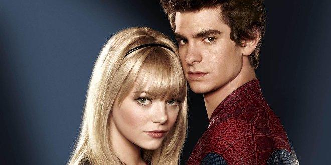 Andrew Garfield als Spider-Man mit Filmpartnerin Emma Stone als Gwen Stacey