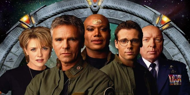 Dr. Samatha Carter, Jack O'Neill,  Teal'c, General George Hammond und Daniel Jackson