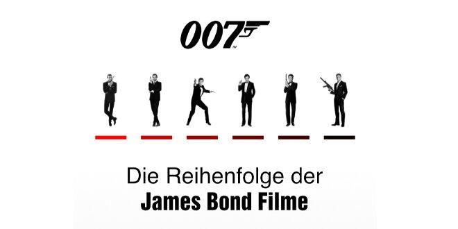 James Bond: Die Reihenfolge aller 007 Filme